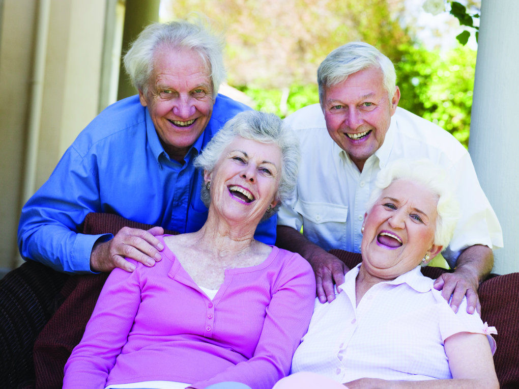Group of Seniors Laughing