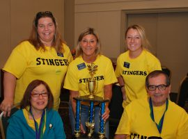 The Deer Path Stingers took home the third place spelling bee trophy.