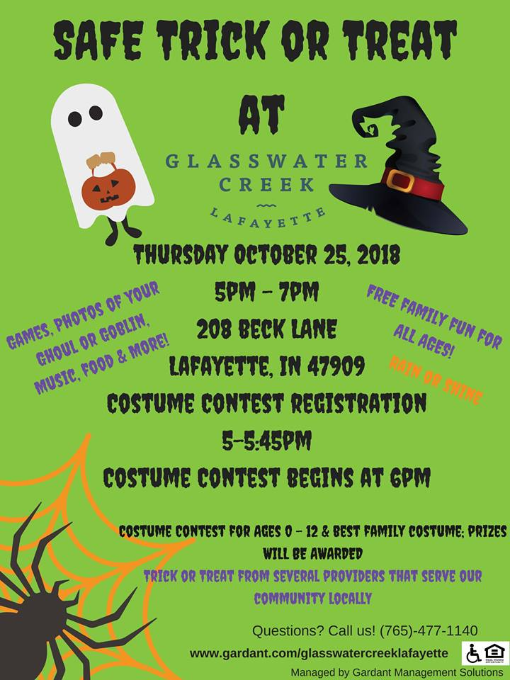 Trick or Treat Excitement Planned for Glasswater Creek