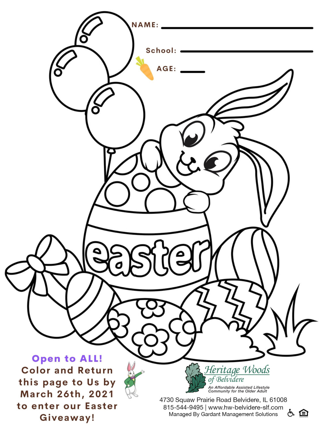 Easter Coloring Contest!