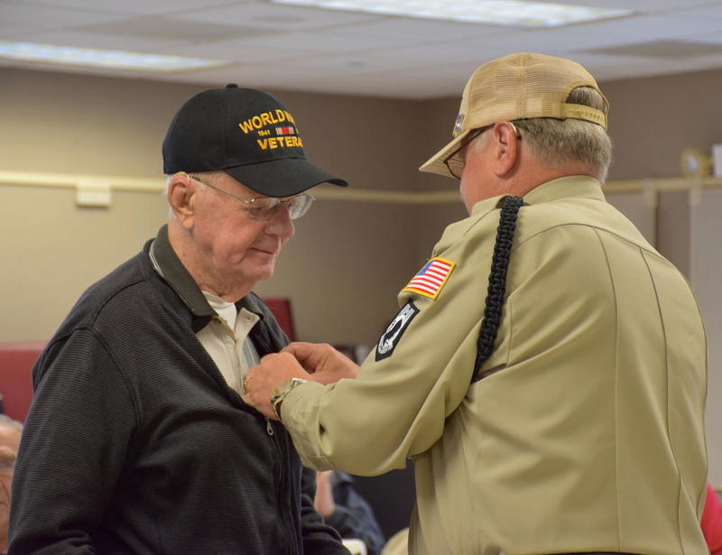 Veterans Honored During Pinning Ceremony