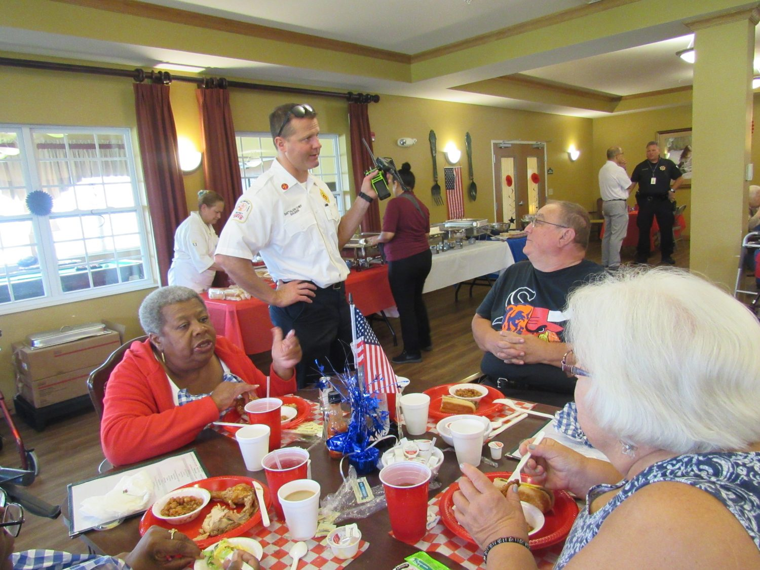 Heritage Woods Hosts First Responder Appreciation BBQ