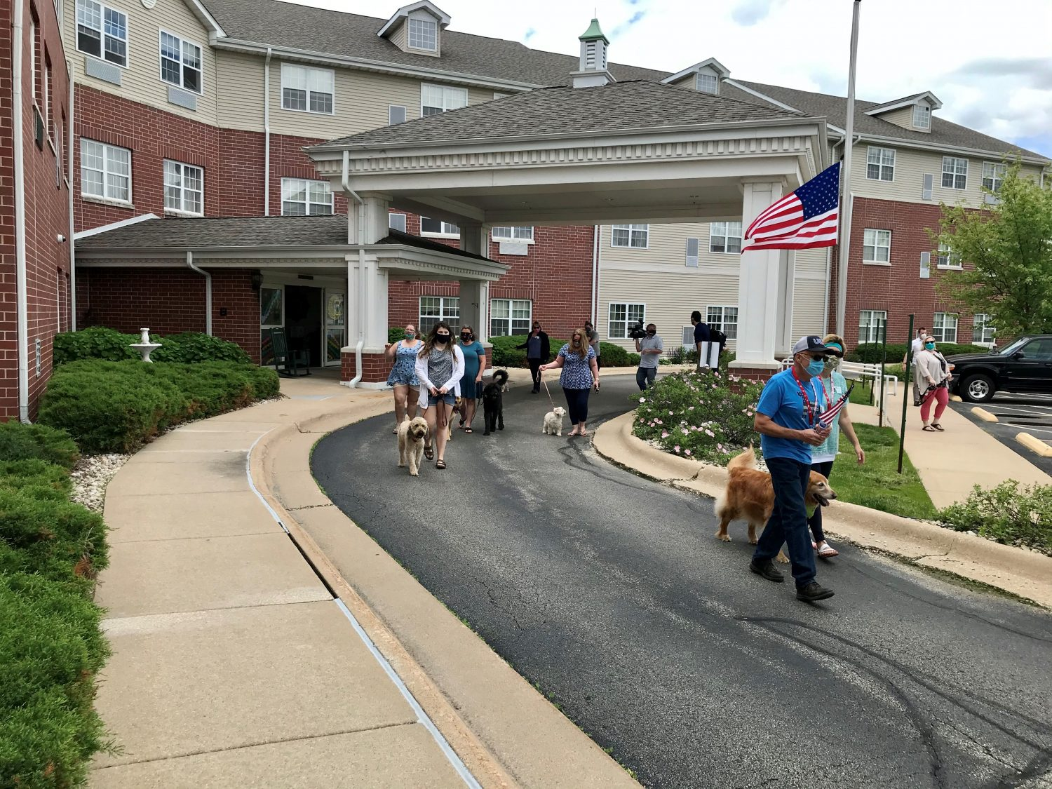 Residents Treated to Puppy Parade