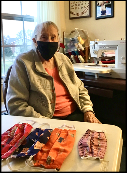 """The Sewing Lady"" Makes Large Face Mask Donation"
